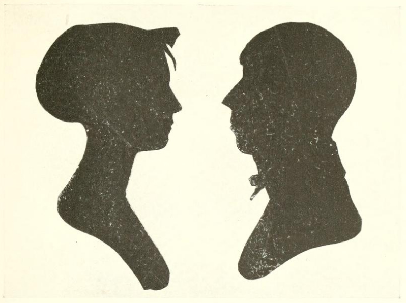 Isaiah and Anna Stratton silhouette picture 1804
